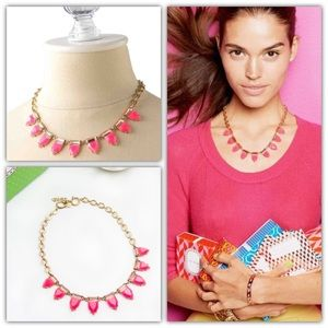 Stella & Dot Eye Candy Necklace in Hot Pink